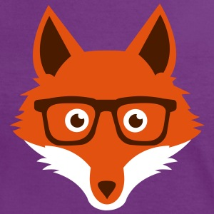 Sweet Funny hipster fox with nerd glasses Tee shirts - T-shirt contraste Femme