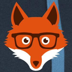 Sweet Funny hipster fox with nerd glasses Hoodies & Sweatshirts - Women's Premium Hooded Jacket