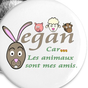 Badge Vegan - Badge petit 25 mm