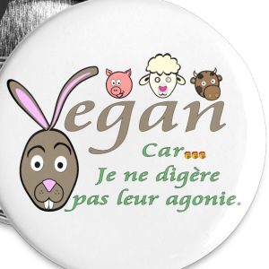 Badge Vegan - Badge grand 56 mm