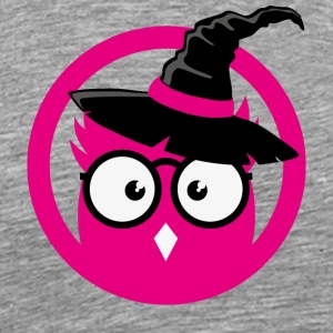 OWL with witch Hat T-Shirts - Men's Premium T-Shirt