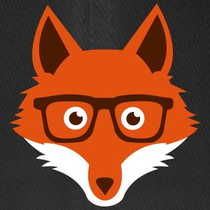 Sweet Funny hipster fox with nerd glasses Cappelli & Berretti - Cappello con visiera Flexfit