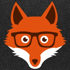 Sweet Funny hipster fox with nerd glasses Caps & Hats - Snapback Cap