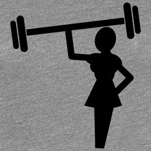 Woman symbol weights weighlifter T-Shirts - Women's Premium T-Shirt
