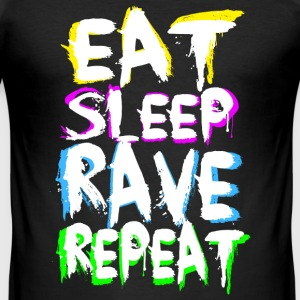 Eat Sleep Rave Repeat for T-Shirts - Männer Slim Fit T-Shirt