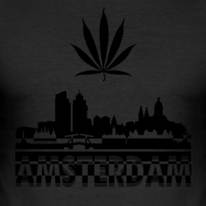 AMSTERDAM SKYLINE T-Shirt - Men's Slim Fit T-Shirt