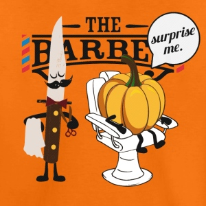 Pumpkin at Barber Shop for Halloween T-Shirts - Teenager Premium T-Shirt