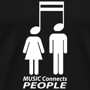 music connects people T-Shirts - Men's Premium T-Shirt
