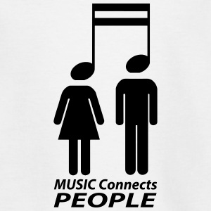 music connects people Shirts - Kids' T-Shirt