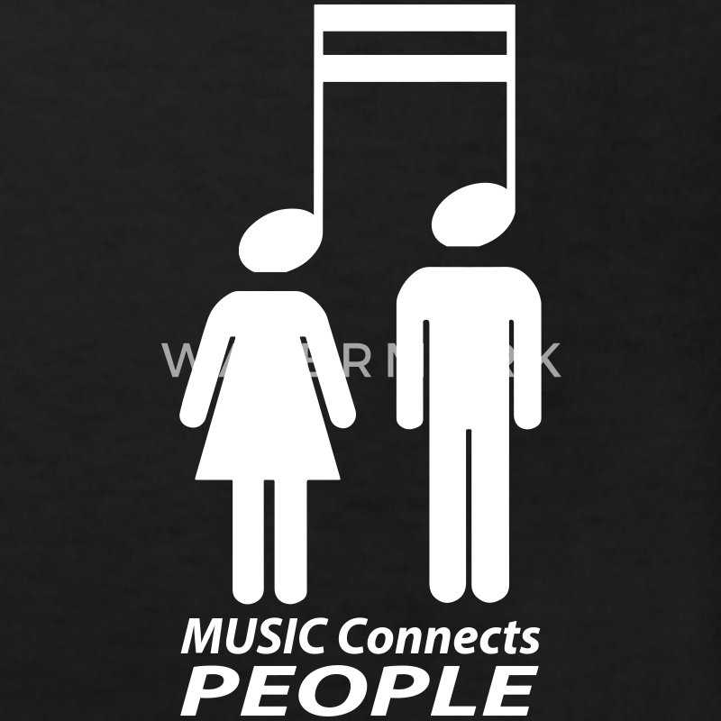 music connects people Shirts - Kids' Organic T-shirt
