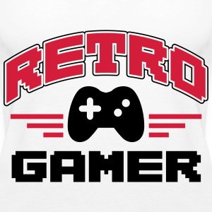 Retro Gamer Tops - Frauen Premium Tank Top