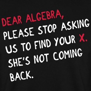 Dear algebra - stop asking us to find your X Pullover & Hoodies - Männer Pullover