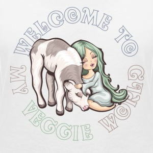 Welcome to my Veggie World - BIO - T-shirt col V Femme