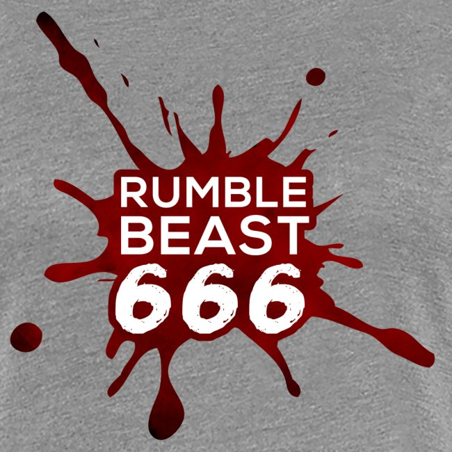 "RumbleBeast666 Girlie-Shirt ""Come to where the Flachsinn is"" (schwarz)"