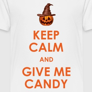 Keep Calm and Give Me Candy Halloween Shirts - Teenage Premium T-Shirt