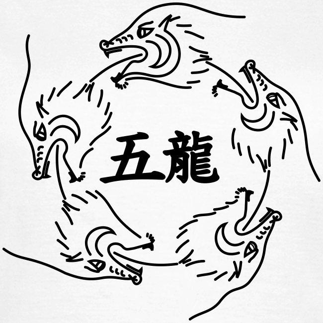 T-Shirt Dragons groß