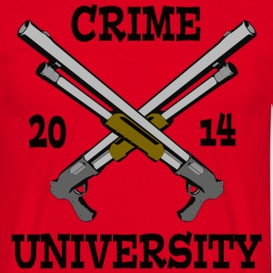 Crime University 2014 T-Shirts - Herre-T-shirt