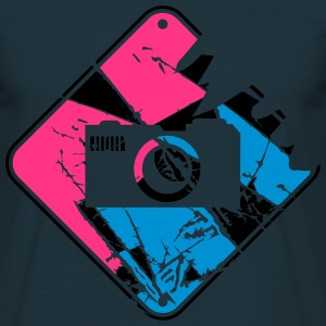 Warning Danger Sign colorful camera T-Shirts - Men's T-Shirt