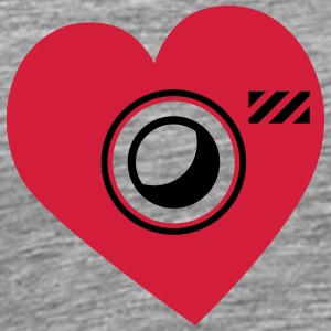 Heart Shape Love Photographer Camera T-Shirts - Men's Premium T-Shirt