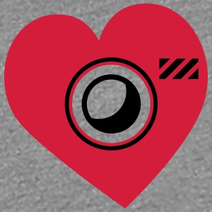 Heart Shape Love Photographer Camera T-Shirts - Women's Premium T-Shirt