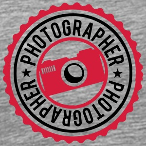 Stamp Logo Photographer T-Shirts - Men's Premium T-Shirt