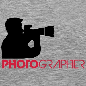 Photographer Text Logo Design T-Shirts - Men's Premium T-Shirt