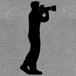 Photographer man big camera T-Shirts - Women's Premium T-Shirt