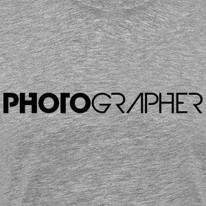 Cool Text Logo Design Photographer T-Shirts - Men's Premium T-Shirt