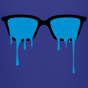 Psychedelic nerd glasses with LSD color drops Shirts - Teenage Premium T-Shirt