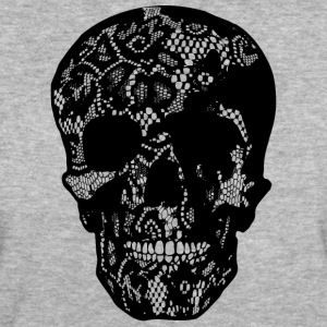 Skull Covered With Lace - black T-Shirts - Frauen Bio-T-Shirt