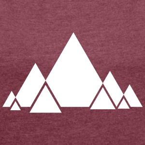 Triangle Style T-shirts - Vrouwen T-shirt met opgerolde mouwen