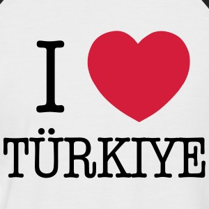I LOVE TURKEY - I LOVE TÜRKIYE T-Shirts - Men's Baseball T-Shirt