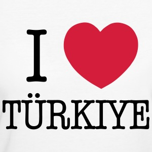 I LOVE TURKEY - I LOVE TÜRKIYE T-shirts - Vrouwen Bio-T-shirt