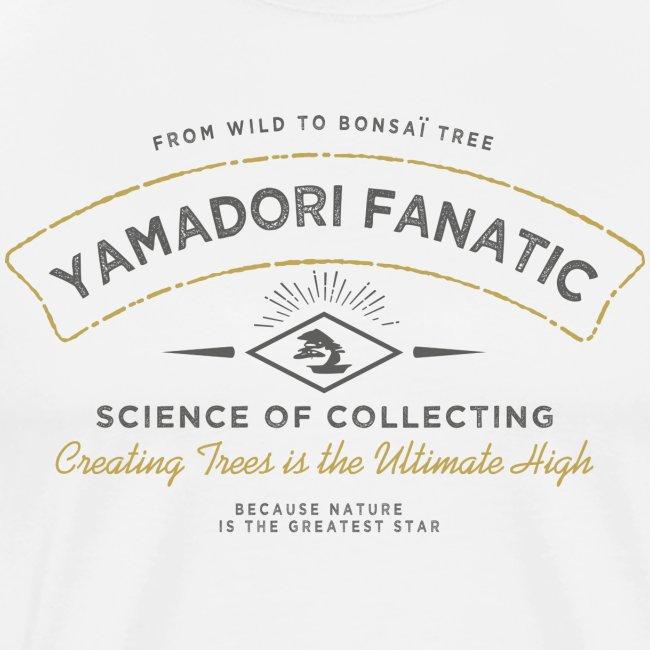 T-Shirt homme Yamadori Fanatic Noir+or
