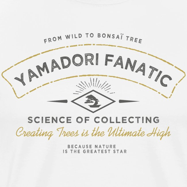 T-Shirt homme Yamadori Fanatic Noir+or