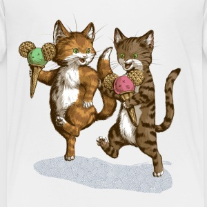 Mice Cream Kittens T-Shirts - Kinder Premium T-Shirt