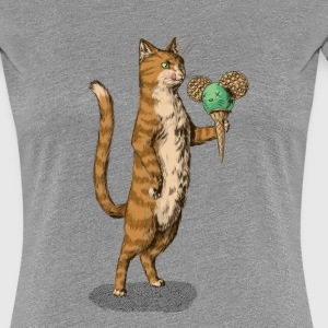 Mice Cream Cat Tee shirts - T-shirt Premium Femme
