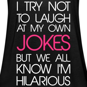 Jokes Tops - Women's Tank Top by Bella