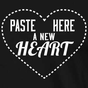 Paste here a new Heart - Maglietta Premium da uomo