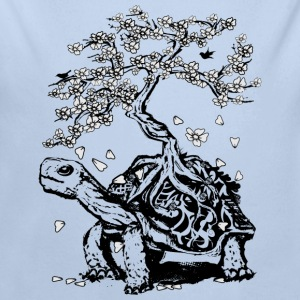 Turtle with a bonsai on the carapace Hoodies - Longlseeve Baby Bodysuit