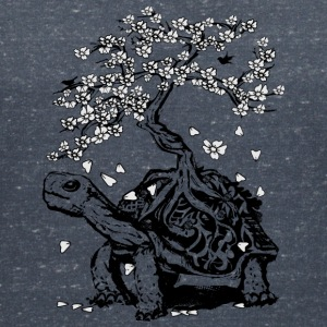 Turtle with a bonsai on the carapace T-Shirts - Women's V-Neck T-Shirt