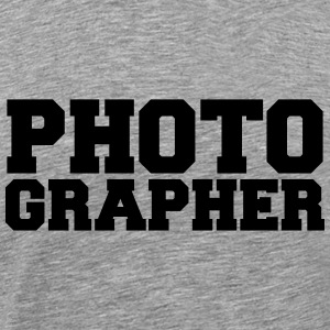 Fotograaf Cool Text Ontwerp T-shirts - Mannen Premium T-shirt