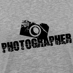 Photographer Camera Text Design T-Shirts - Men's Premium T-Shirt