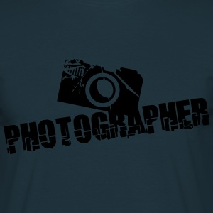 Photographer Camera Text Design T-Shirts - Men's T-Shirt