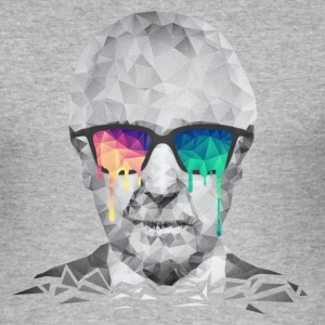 Albert Hofmann - Psychedelic Polygon Portrait T-Shirts - Männer Slim Fit T-Shirt