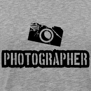Photographer Camera Stamp T-Shirts - Men's Premium T-Shirt