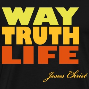 Way - Truth - Life - Jesus Shirt (UK) - Männer Premium T-Shirt