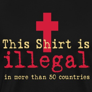 illegal - Jesus Shirt (UK) - Männer Premium T-Shirt