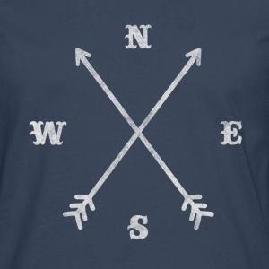 Hipster compass / crossed arrows / retro look Manches longues - T-shirt manches longues Premium Homme