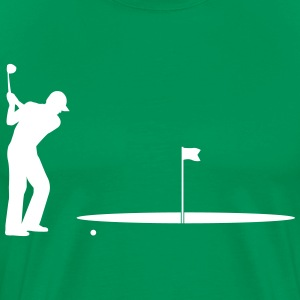Golfer big hole T-Shirts - Men's Premium T-Shirt